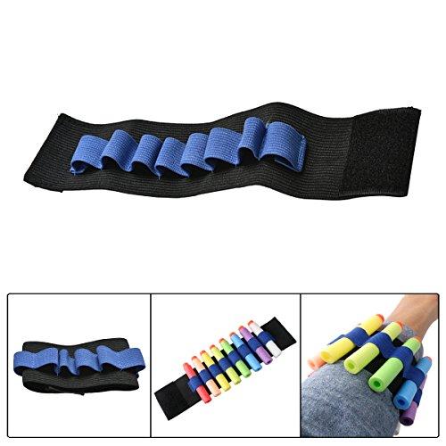 r Handgelenk Band für Nerf Blaster Spielzeugpistole Elite Darts Handgelenk Belt Weiche Foam Darts Aufbewahrung Gurt für alle Nerf Dartblaster wie Nerf N-STRIKE ELITE ALPHA TROOPER CS-12, HYPERFIRE, CENTURION, FIRESTRIKE, HAILFIRE, RAMPAGE, Rapidstrike CS-18,Blaster Special Value Pack, ROUGH CUT 2X4, Rough Cut, STOCKADE, STRONGARM / Nerf Zombie Strike Serie / Nerf N-Strike Serie / Nerf Vortex Serie / Nerf Doomlands Serie / Nerf Modulus Serie und Nerf Rival Serie u.s.w (Nerf Vulcan Blaster)