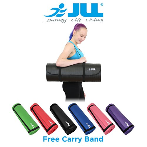 JLL Yoga Mat Extra Thick 15mm Non-Slip Pilates Workout (Pink)