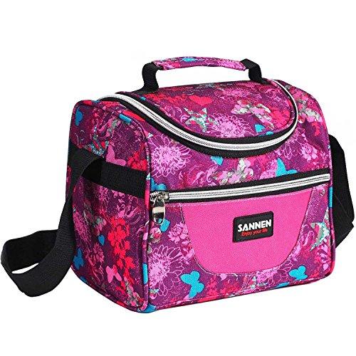 SAMERIO Lunchbox für Mädchen, isoliert, für Kinder, Jungen, Kinder, Studenten, Kühltasche, Lunchtasche - Butterfly Rose - Frozen Baby-essen-container