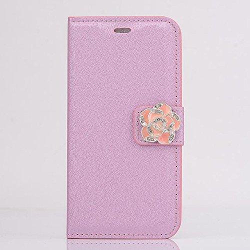 """inShang Hülle für Apple iPhone 6 iPhone 6S 4.7 inch iPhone6 iPhone6S 4.7"""", Cover Mit Modisch Klickschnalle + Errichten-in der Tasche + SILK PATTERN FLOWER DECORATION , Edles PU Leder Tasche Skins Etui flower pink"""