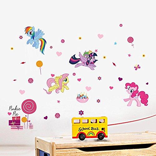 too My Little Pony Ponys 3D Wallpapers Wandsticker Abnehmbarer Neuheit Kinder Raum ()