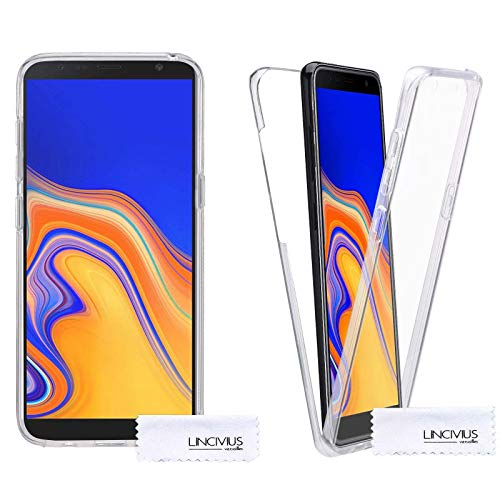 Lincivius Samsung Galaxy J6 Plus 360 Case, Full Body Protection Galaxy J6 Plus Silicone Clear Ultra Thin, Built In Screen Protector Slim Hybrid Cover Compatible with Samsung Galaxy J6 Plus