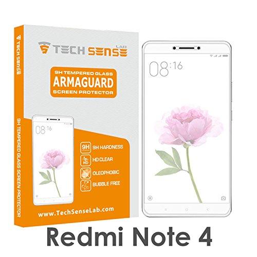 Tech Sense Lab Tempered Glass Screen Protector [9H] Full Hd, Anti Scratch Screen Guard For Redmi Note 4