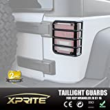 Xprite 2007 - 2016 Jeep Wrangler JK Unlimited Black Light Guard For Rear Taillights ( Tail Light ) Cover - Pair by Xprite