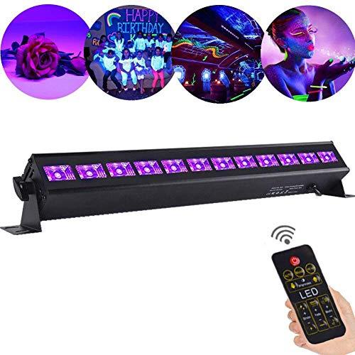 WuZhong W Illuminazione UV, LED UV Blacklight UV LED Effetto Luce Par Luci da palcoscenico Luci da palcoscenico a LED Par Luce per Bar Feste Compleanni Negozi Feste Nuziali 12LEDs 36W