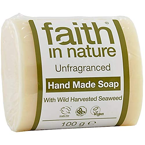 Faith In Nature Hand Made Unfragranced Soap For Men With Seaweed 100g