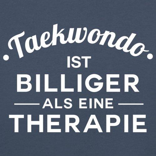 Taekwondo ist billiger als eine Therapie - Herren T-Shirt - 13 Farben Navy