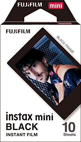 Fujifilm Instax Mini Instant Film, Schwarz, Einzelpackung