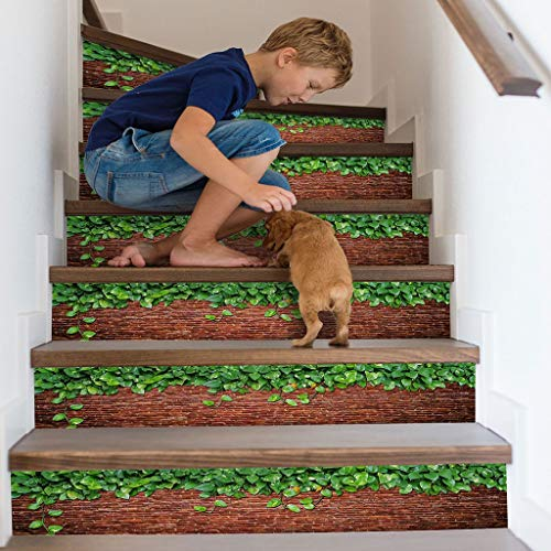 Zegeey 3D Simulation Treppen Wand Boden Aufkleber Wasserdichte Wandaufkleber DIY Dekoration Aufkleber