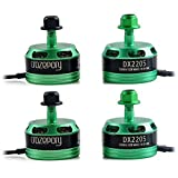 DroneAcc 4pcs DX2205 2300KV Brushless Motor 2CW 2CCW 2-4S Racing Edition Green for QAV210 X220 QAV250 FPV Racing Drone