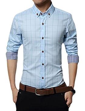 Camisa Hebilla De Lino De Primavera Camisa Floja De Gran Tamaño Hombres Camisa Blusa Partido