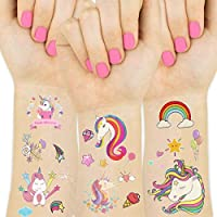 Unicorn Temporary Tattoos for Kids Unicorn Birthday Party Supplies Girls Party Favors