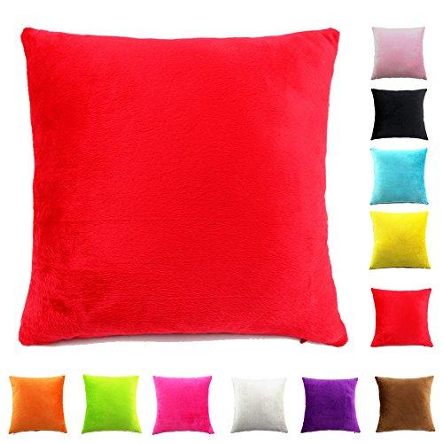 Easondea Federa per Cuscino fodere per cuscini Cuscino Copridivano Divano letto Home Decorazione auto Federa di lusso Rosso 70X70CM