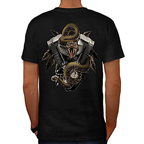 Ford Mustang Engine Men M T-shirt Back | Wellcoda