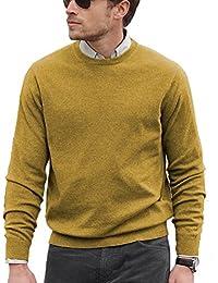 Parisbonbon Men's 100% Cashmere Crew Neck Sweater