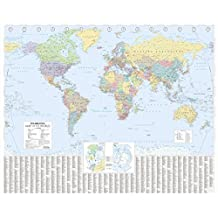 The Times World Wall Laminated Map (Wall Map)