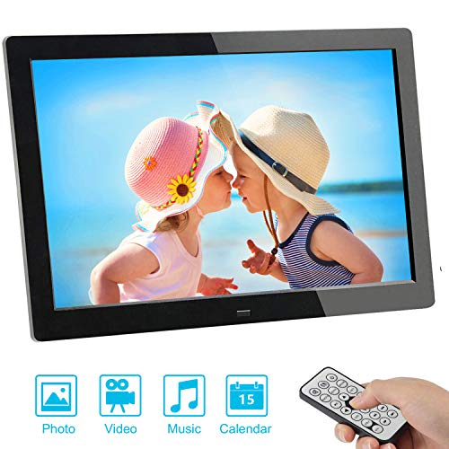 Digitaler Bilderrahmen, SSA 8 Zoll 1280x800 Hohe Auflösung Full IPS Foto/Musik/Video Player Kalender Alarm Auto on/Off Timer, Ultra Slim Design mit Fernbedienung