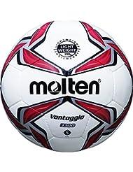 molten Kinder Fußball F5V3329-R, Weiß/Rot/Silber, 5, F5V3329-R