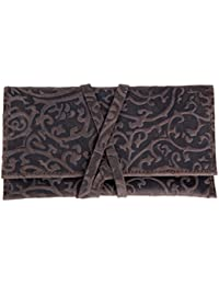 Bolsa de auténtico cuero de vaca para tabaco, diseño alemán