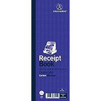 Libro de recibos con hojas duplicadas (en inglés), marca Challenge, color azul 105x130mm