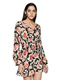 Forever 21 Women's A-Line Dress (00221452022_0022145202_ BLACK/CORAL_2/S)