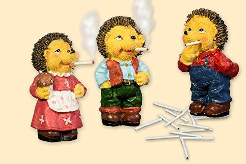 Räuchermecki mit 15 Mini Zigaretten- Der bekannte Kult-Igel aus DDR Zeiten - Preis für ein Stück (Farbige Zigaretten-packungen)