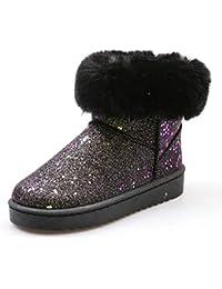 XMDNYE Plataforma De Invierno Botas para La Nieve Zapatos Dama Botas Planas Botas Cálidas para El Tobillo Al Aire Libre, 38