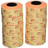Pryse 1531038 - Etiquetas, color naranja fluor, 21 x 12 mm