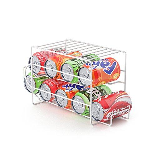 Balvi Dispensador latas Basics Color Blanco Capacidad 9 latas Ideal para la Nevera Metal