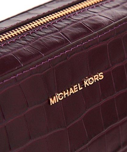 MICHAEL by Michael Kors Ginny Borsa Fotografica in Pelle Donna Damson