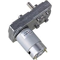 BQLZR 12 V Velocidad sin carga Metal cuadrado baja velocidad High Torque Orientado Motor Derecho ¨¢ngulo el¨¦ctrico disco motor para autom¨¢tico actuador, plateado 10RPM