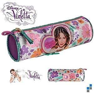 S1/Jolie–Neceser satinado de Violetta, a flor Dim: 21cm