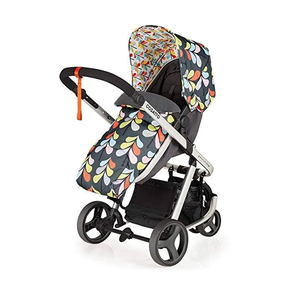 Cosatto Giggle Mix pram and Pushchair Nordik with car seat Base & raincover Cosatto Includes: Chassis,Seat unit, Hold Car seat,Isofix base,Car seat adaptors,Raincover, Apron and 4 Year guarantee(UK and Ireland only) Suitable from birth up to 15kg. One unit transforms from newborn pram mode into pushchair mode. Space saving. No need to buy separate carrycot.. Colour packs available so you can change the look to suit your mood, family and adventures. Includes hood, pram apron and padded pushchair apron. 5