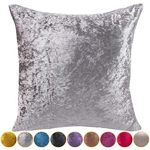 funnie federa per cuscino in velluto moda copricuscino cuscino geometria rettangolari copridivano casa divano sedia stanza letto home decorazione cuscini e federe grigio argento 50x50cm