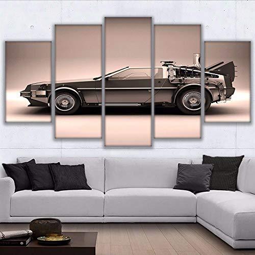 kunst Poster HD Drucke 5 Stücke Zurück In Die Zukunft Gemälde Wohnkultur Wohnzimmer Film Auto Bilder ()