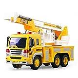 Kinder, die Toys Musik Licht sanitärem, mamum Auto Kran LKW Fahrzeug Spielzeug Reibung powered Baumeister Maschine mit Licht & Musik & Einheitsgröße a