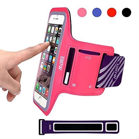 EOTW Sportarmband Handyhülle universell passend für iPhone, Samsung, HTC, usw., Oberarmtasche In Verschiedenen Farben und Größen für Laufen (4,7 Zoll, Pink)