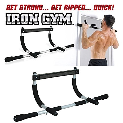 PERFECT SHOPO Iron Gym Door Chin Up Bar Push Up Bars Sit Ups For Work Out  available at amazon for Rs.949