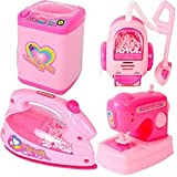 #3: SUPER TOYS Battery Operated Mini Household Kitchen Sets - Toys for Kids