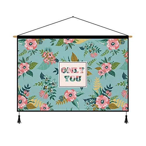 mmzki Blumendekor Tapisserie frisch Hintergrund Stoff Hintergrund Wanddose Pflanze Blumentuch Hängetuch P 65 * 45cm
