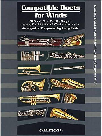 Larry Clark: Compatible Duets For Winds - Clarinet/Trumpet/T.C. Euphonium/Tenor Saxophone. Partitions pour Clarinette, Trompette, Euphonium, Saxophone