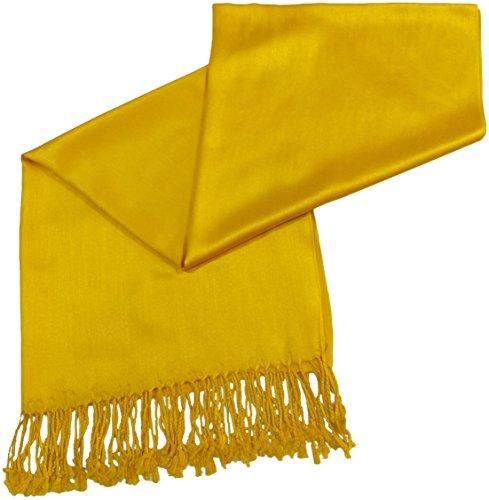 giallo-oro-colore-solido-disegno-scialle-di-pashmina-sciarpa-stola-dellinvolucro-cj-apparel-nuovo