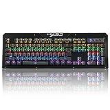 Matilda530 Matilda530 Mechanische Gaming-Tastatur Wasserdicht Blau-Schalter 104 Doppel Injection Keys Keyboard (Farbe : Schwarz)