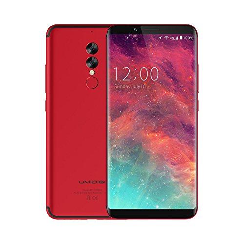 UMIDIGI S2 Smartphone Android 6.0, Dual Sim Handy 6 Zoll mit 5100mAh Akku 4GB RAM + 64GB ROM Dual-Hauptkamera Rot