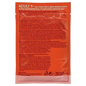 IAMS Nourriture Humide en Sauce Poisson de Mer/Haricots Verts en Sauce pour Chat Adulte Toutes les Races 85 g