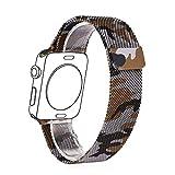 Apple Watch Band, Bandmax Milanaise Uhrenarmband Ersatzarmband mit Magnetverschluss Cool Armee...