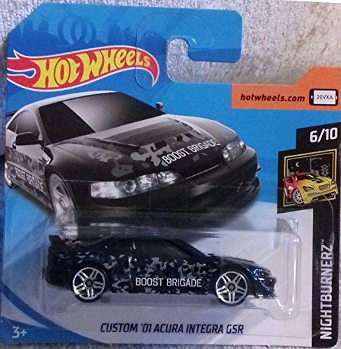 Hot Wheels 2018 Custom '01 Acura Integra GSR Black 6/10 Nightburnerz 17/365 (Short Card) -