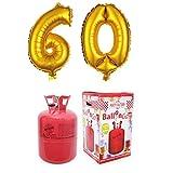 Party Factory Ballongas Helium 420 Liter im Set mit Folienballon 60