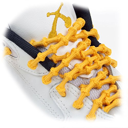 XTENEX - X300 Gold 30 (PATENTED) Adjustable Eyelet Blocking No Tie Elastic Shoe Laces for an Extreme Lock In Performance Fit