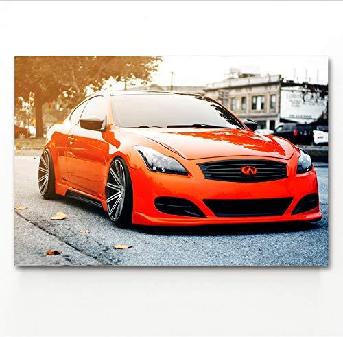 MZCYL Leinwand Malerei Wandkunst Bild Infiniti Q60 Tuning Auto Fahrzeug Straße Poster Drucken Leinwand Malerei Ohne Rahmen 40 * 60 cm